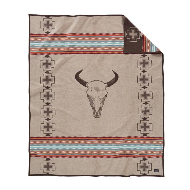 Pendleton Pendleton   Jacquard Unnapped Robe Blanket    American West, Tan