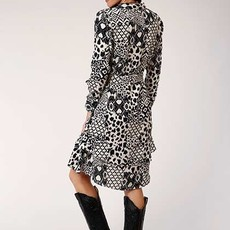 Roper   Rayon Shirt Waist Midi Dress