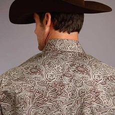 Stetson | L/S Snap Shirt 2 Pocket Print