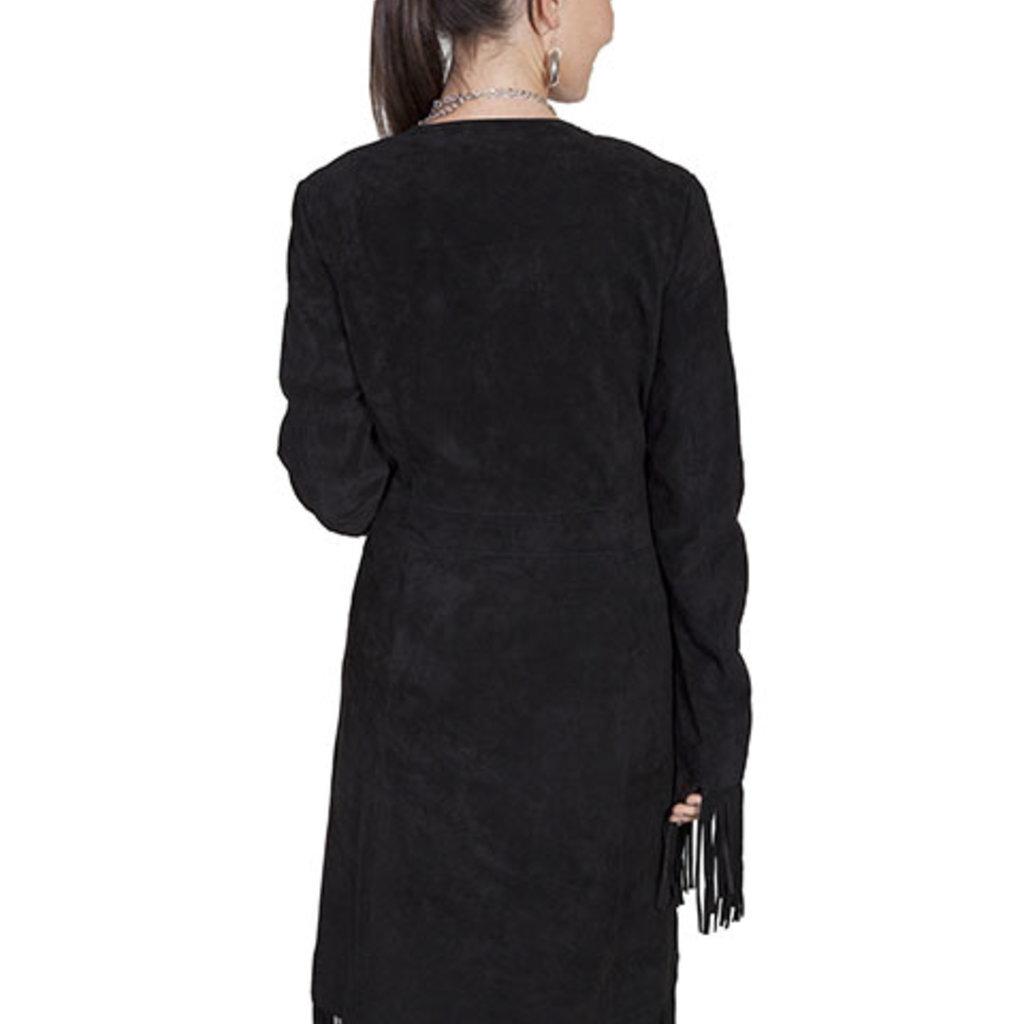 Scully | Boar Suede Long Fringe Coat