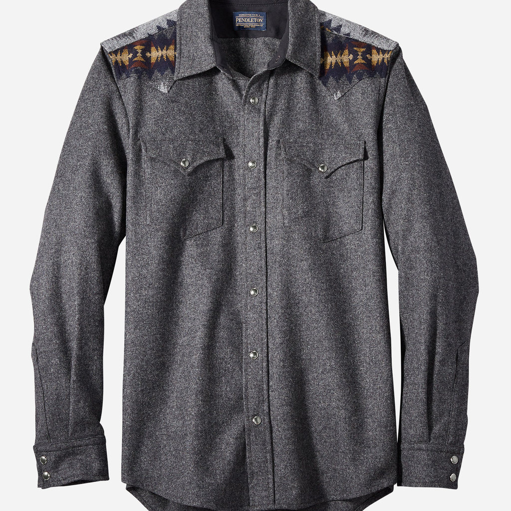Pendleton Pendleton | Pieced Canyon Shirt - Fitted in Oxford Mix