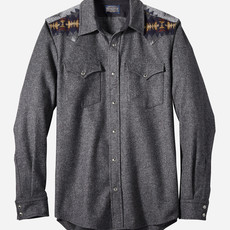 Pendleton Pieced Canyon Shirt - Fitted in Oxford Mix