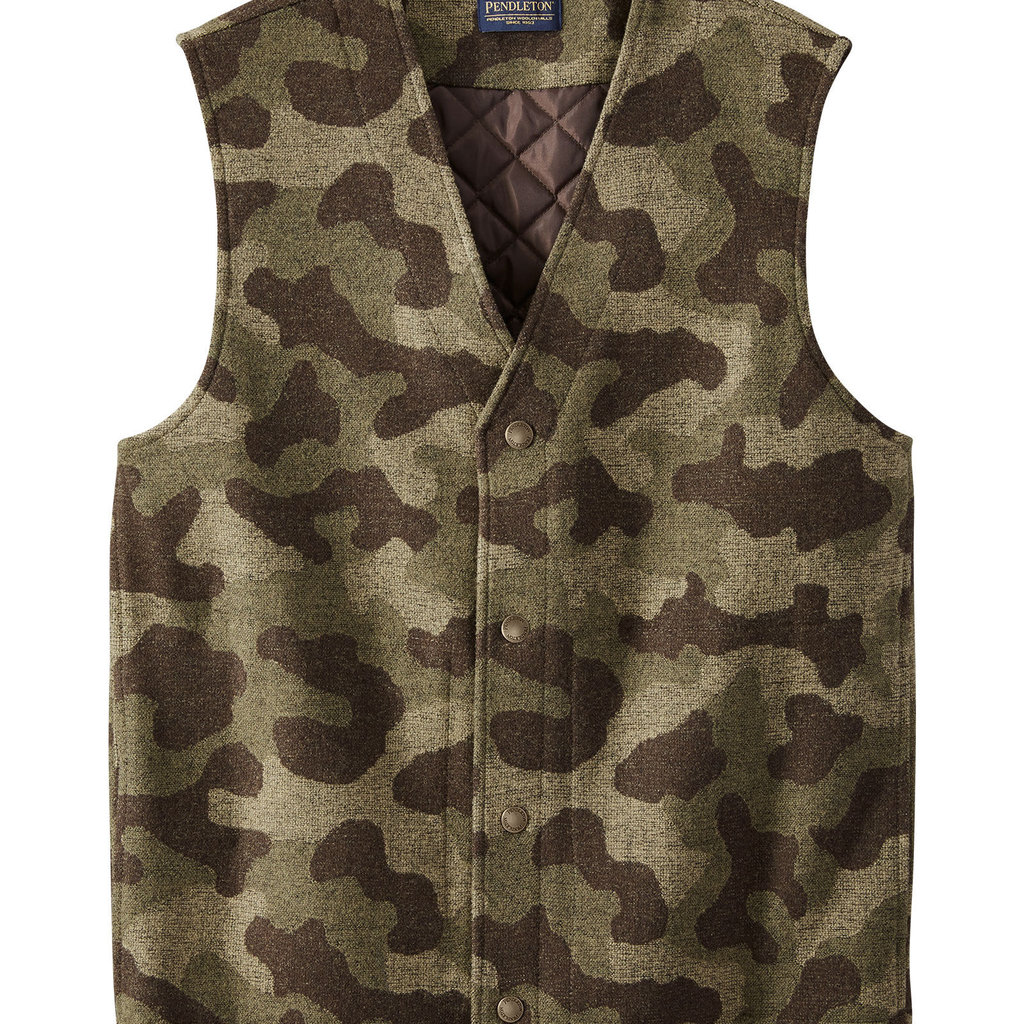 Pendleton Camo Quilted Vest in Camo Jacquard