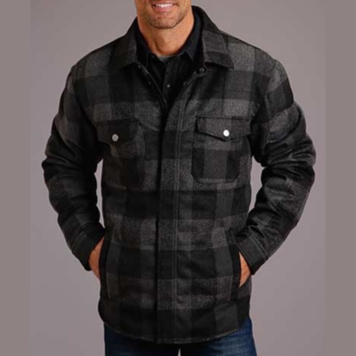 Buffalo Plaid Shirt-Jacket
