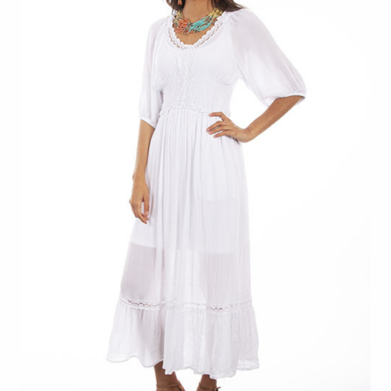 Scully | Lace Trim Maxi Dress
