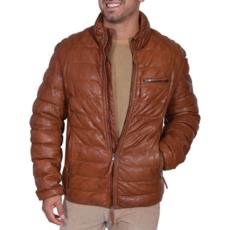 Ribbed Leather Jacket