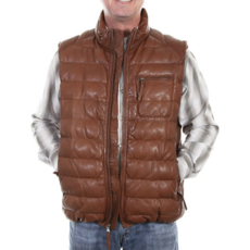 Ribbed Leather Vest