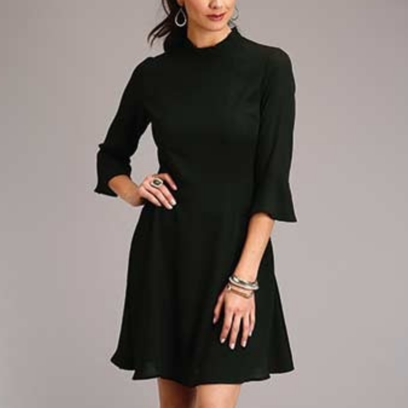 Stetson | Poly Crepe Knee Length Dress