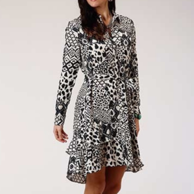Rayon Shirt Waist Midi Dress