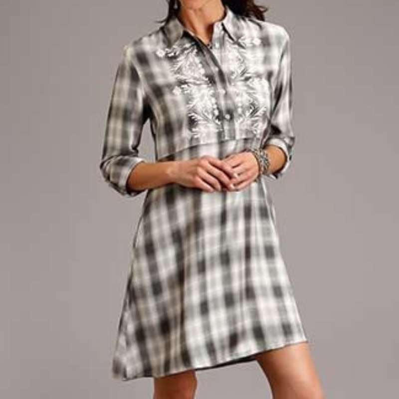 Stetson | Smokey Ombre Plaid Shirt Dress
