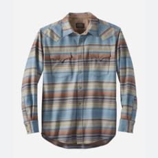 Pendleton Canyon Shirt in Blue/Green/Brown Stripe