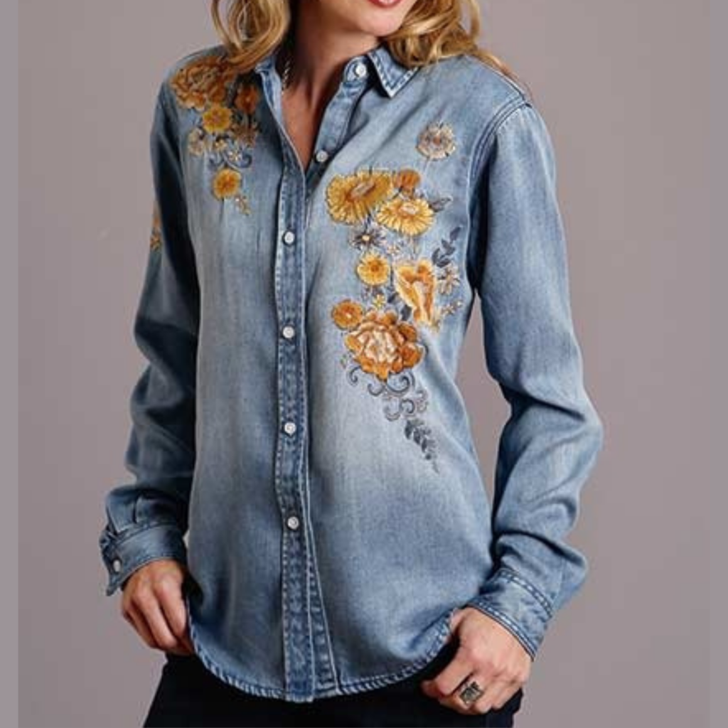 Stetson | Embroidered Tencel Blouse