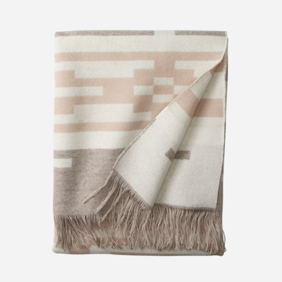 Pendleton Jacquard Fringed Throw in Sandhills