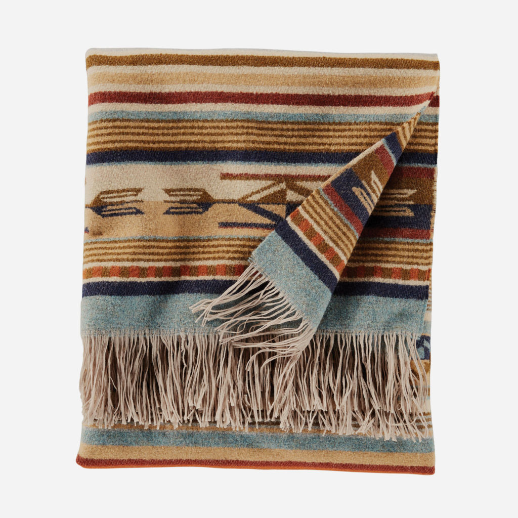 Pendleton Pendleton | Jacquard Fringed Throw Blanket | Chimayo Harvest