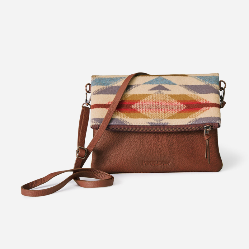 Pendleton Foldover Clutch in Wyeth Trail