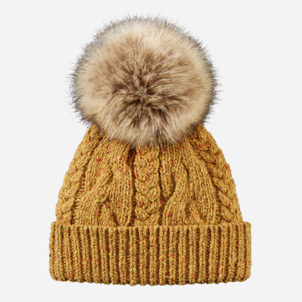 Pendleton Cable Hat in Yellow