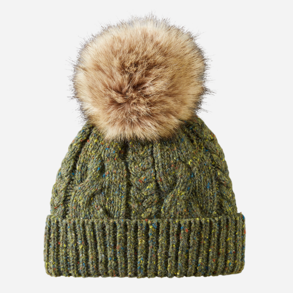 Pendleton Cable Hat in Green