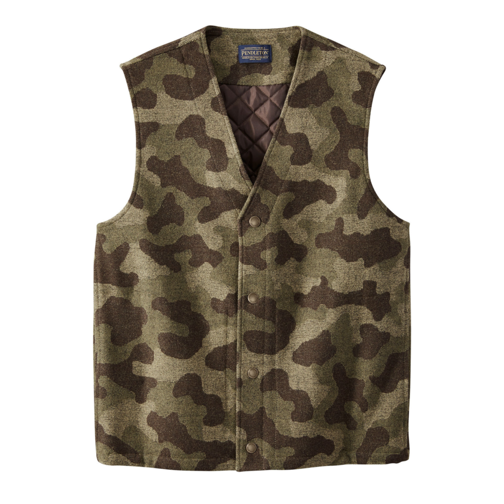 Pendleton Pendleton | Camo Quilted Vest in Camo Jacquard
