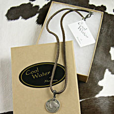 Leather with Buffalo Nickel Necklace