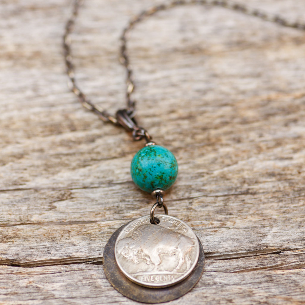 Buffalo Nickel Turquoise Necklace