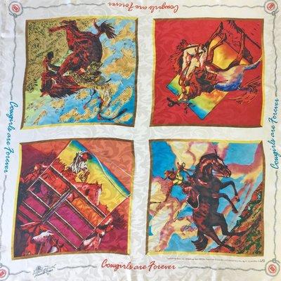 """""""Cowgirls/Cowboys Forever"""" Silk Scarf"""
