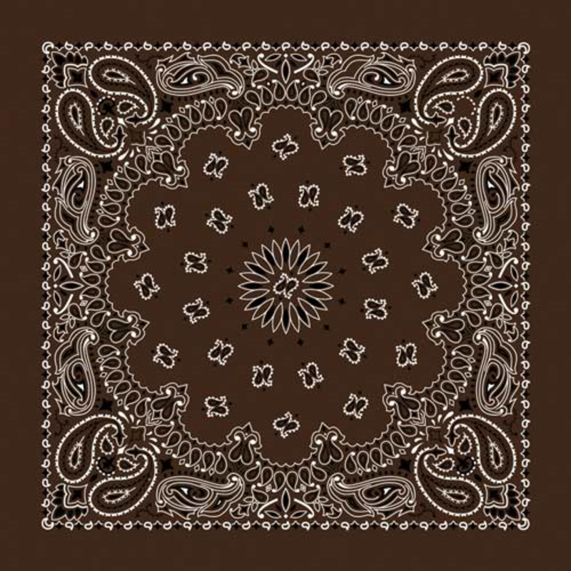 Rockmount Ranch Wear | Brown Cotton Bandana