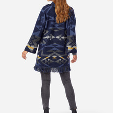 Pendleton Skamania Alpaca Sweater in Navy Plains Star