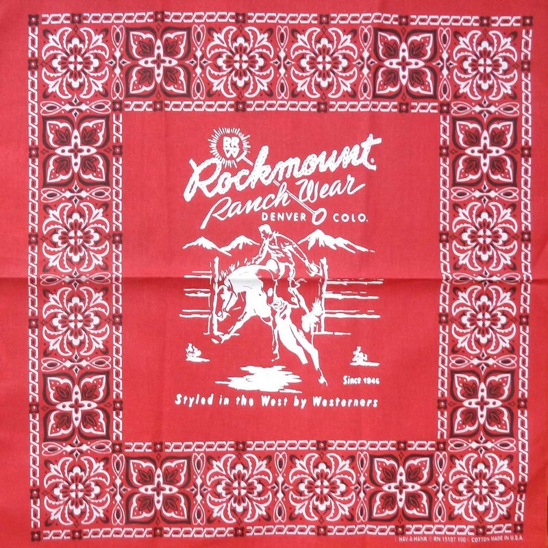 Rockmount Ranch Wear | Bronc Rider Red Bandana