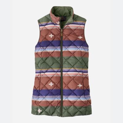 Pendleton Bridger Reversible Quilt Vest in Olive