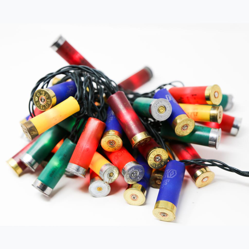 Upcycled Shotgun Shell Lights | Multicolored