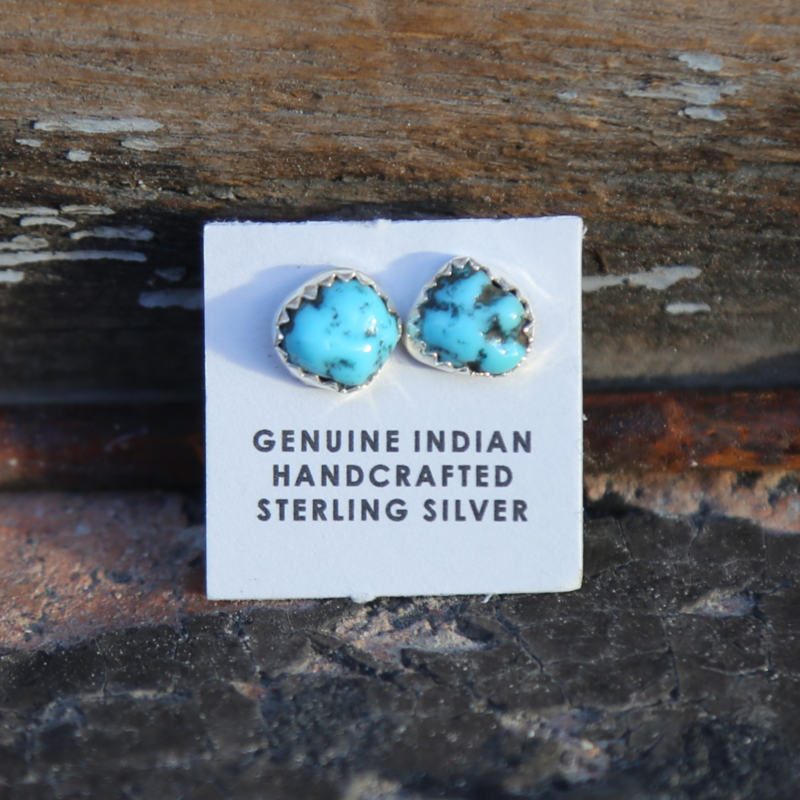 Turquoise Stud Earrings | Sterling