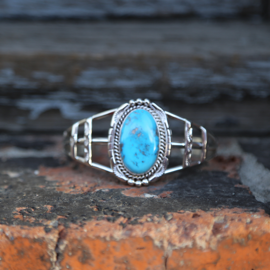 Turquoise Cuff   Sterling