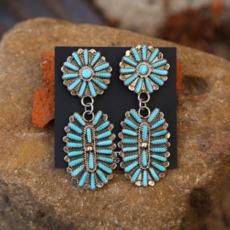 Turquoise Dangle Earrings | Sterling
