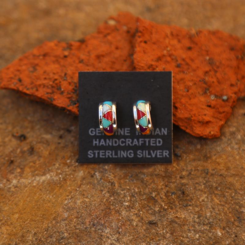 Zuni Stud Earrings | Sterling