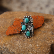Turquoise Sterling Ring | Size 6 1/4
