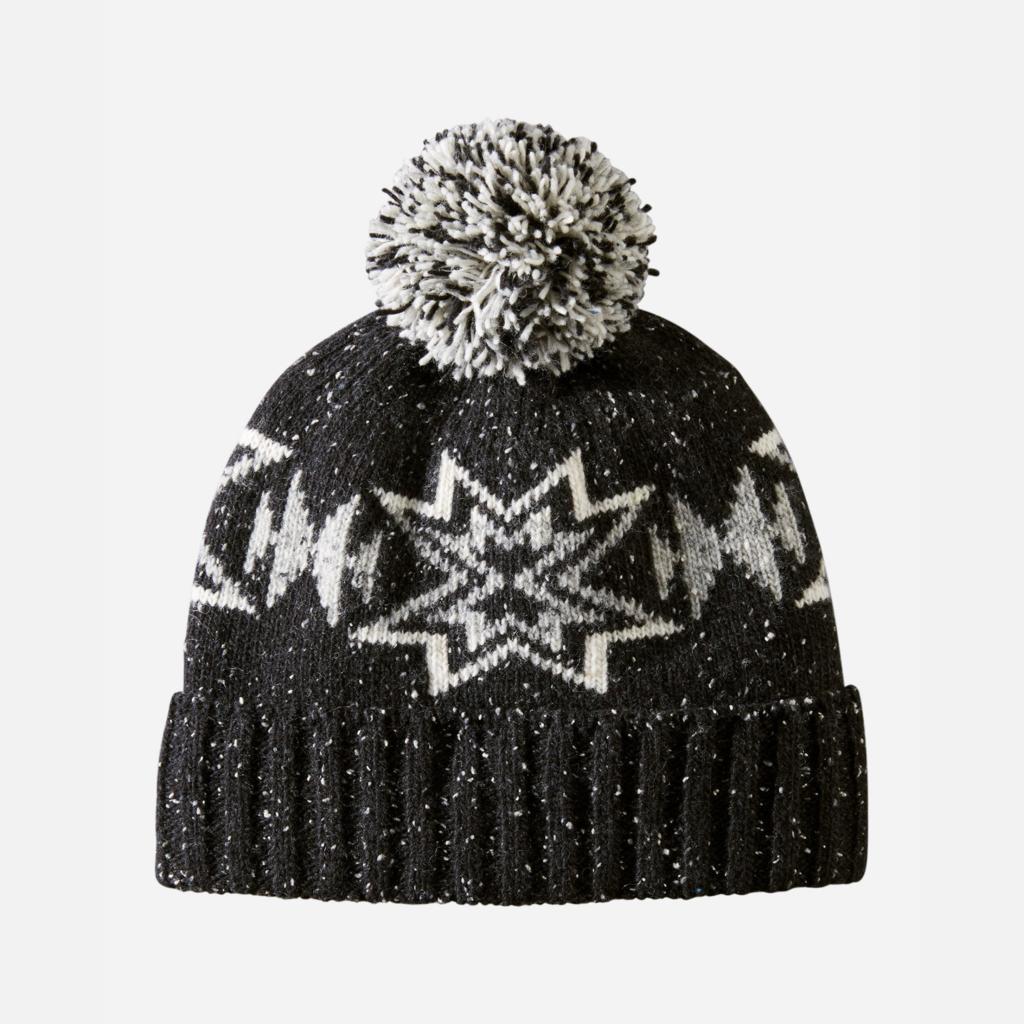 Pendleton Pendleton | Wool Hat with Pom Pom | Plains Star Charcoal