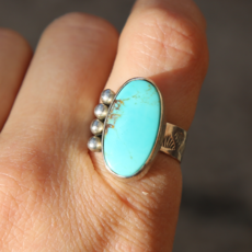 Turquoise Sterling Ring | Size 7 3/4