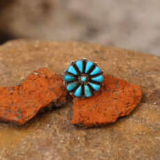 Flower Turquoise Ring |  Size 7 3/4