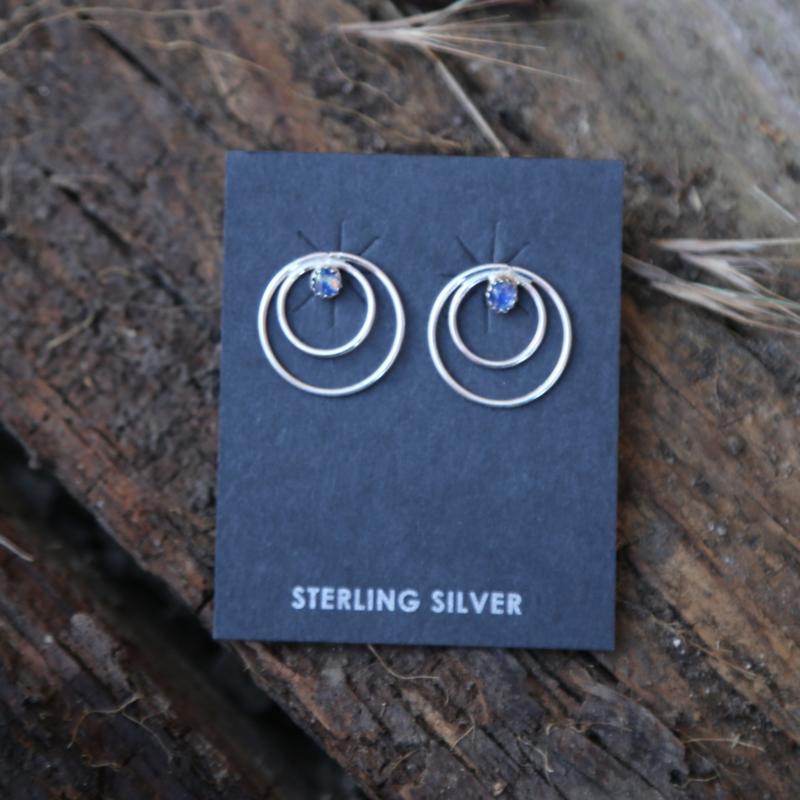Loop Stud Earrings | Sterling
