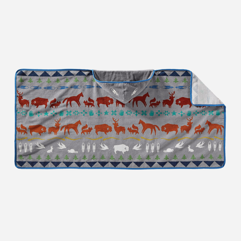 Pendleton Pendleton  | Hooded Baby Towel in Shared Paths Grey Mix