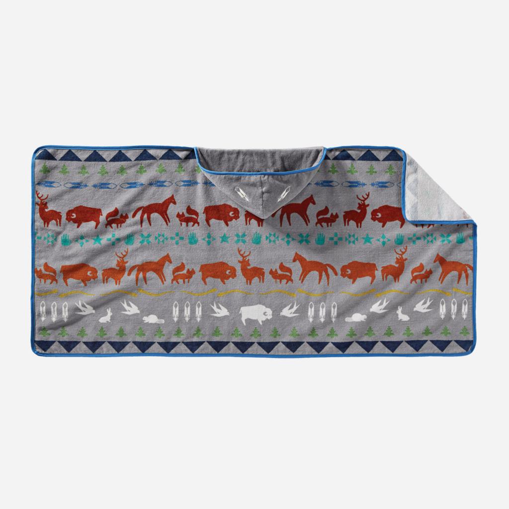 Pendleton Pendleton | Hooded Baby Towel | Shared Paths Grey Mix