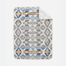 Pendleton Pendleton | Sherpa Stroller Blanket in Silver Bark