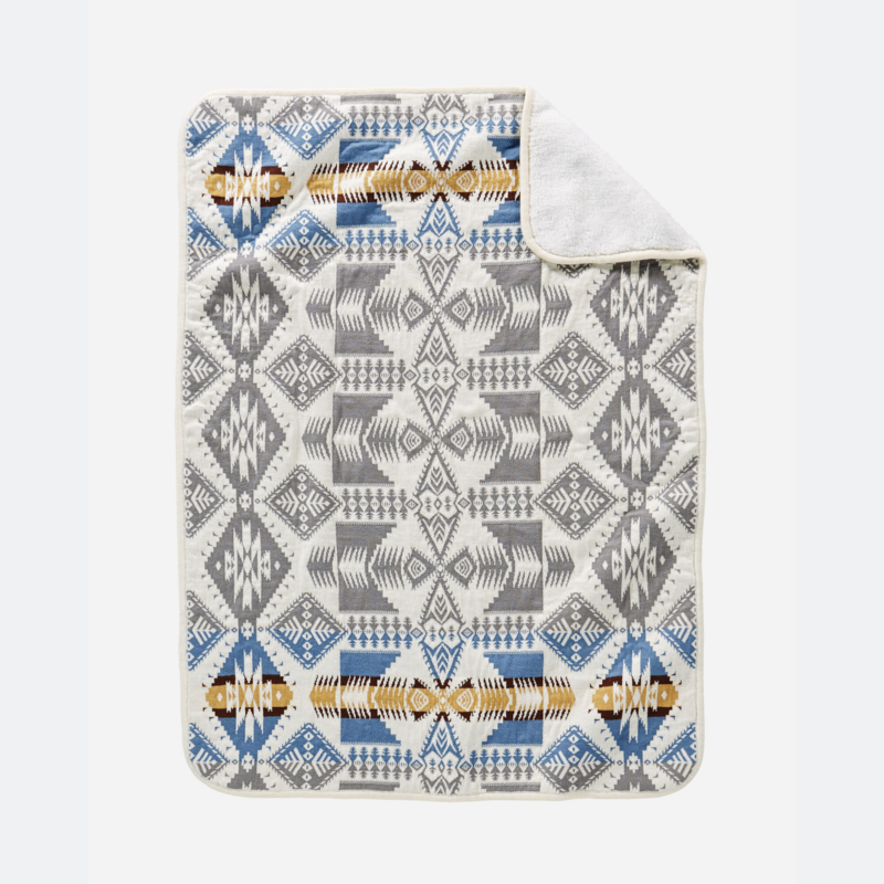 Pendleton Pendleton | Stroller Blanket | Sherpa Silver Bark