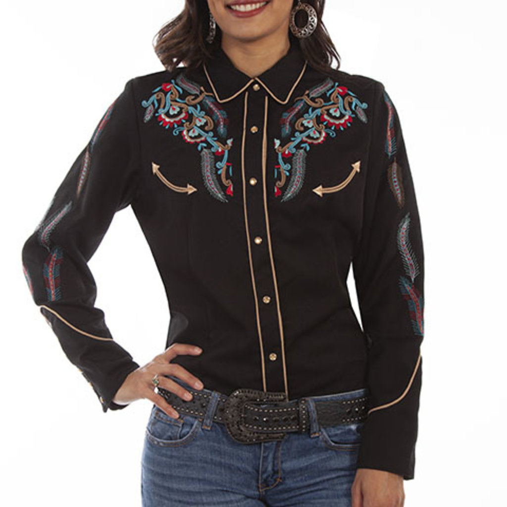 Scully | Embroidered Western Shirt