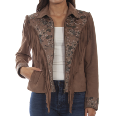 Scully | Suede Fringe Beaded Jacket