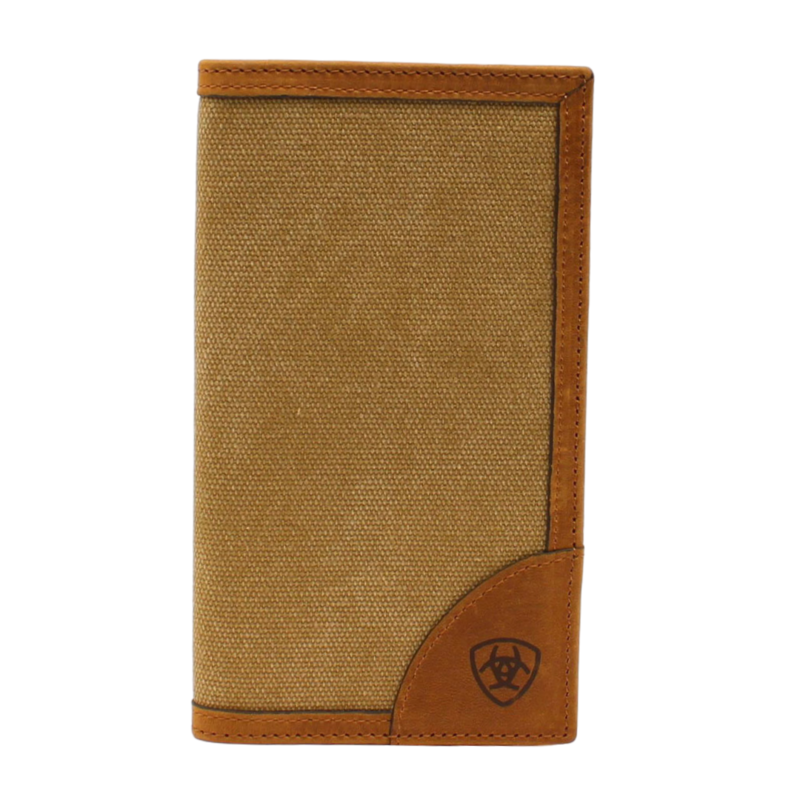 Ariat   Rodeo Canvas Checkbook Cover Wallet