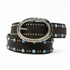 Ansaldo Imports | Brown Belt with Turquoise