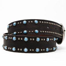 Brown Belt with Turquoise