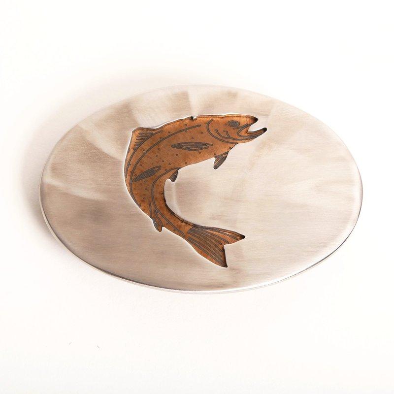 L&M Ventures | Polished Steel Trout Belt Buckle