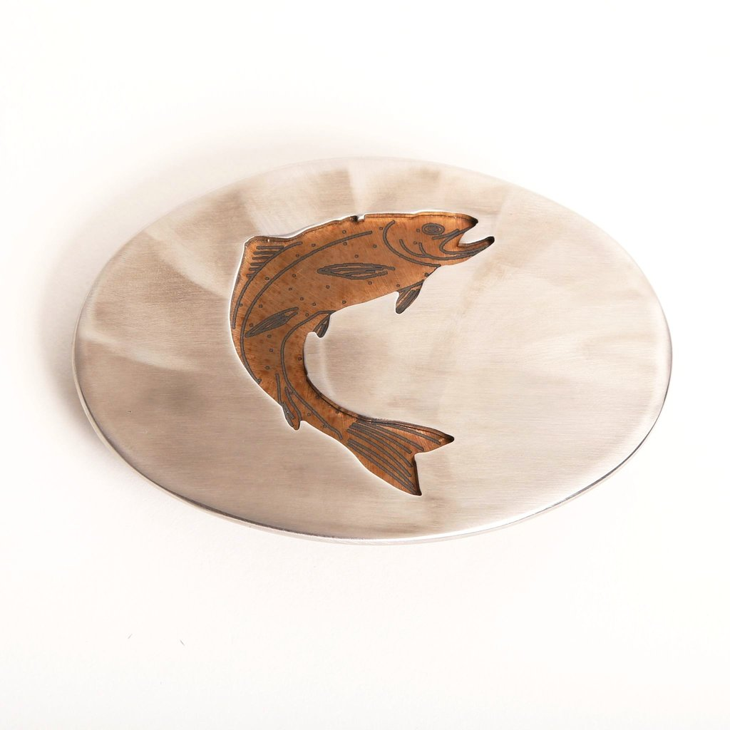 L&M Ventures | Polished Steel Trout Belt Buckle